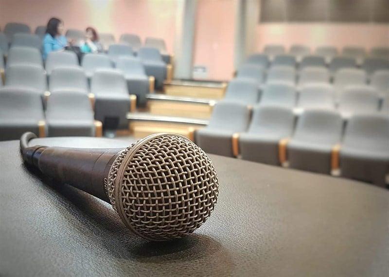 מיקרופון אולם הרצאות אודיטוריום