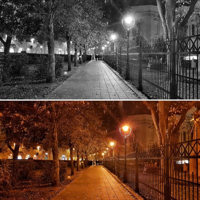 שדרה מוארת בלילה פמסי רחוב